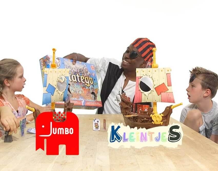 Kleintjes testen Jumbo Piraten Stratego
